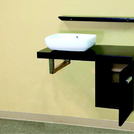 corsica floating single vessel sink bathroom vanity