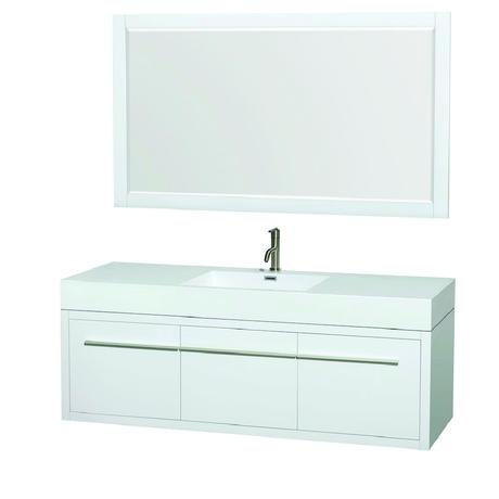 ava single bathroom vanity in glossy white