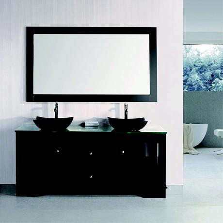 oasis double sink vanity with glass top