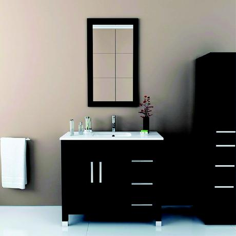 crater under mount sink vanity with drawers in black