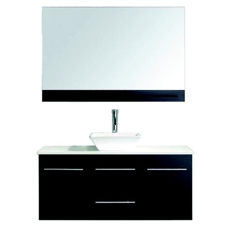 marsala single bathroom vanity in black