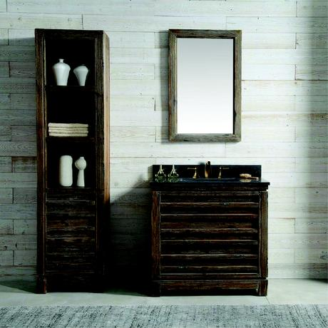 willownest modern sink single vanity with natural wood