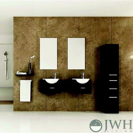 mria double wall mounted sink vanity