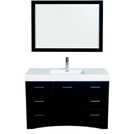 delray single bathroom vanity in clay