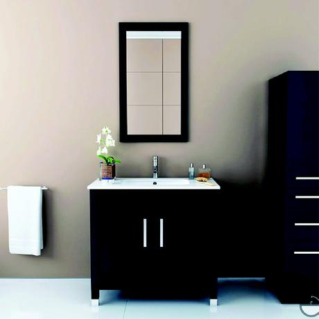 black gemini under mount sink vanity simple modern