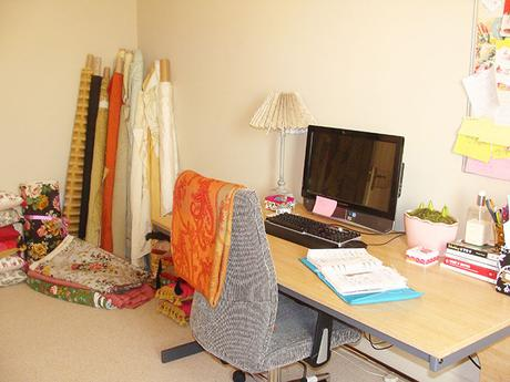 Before and after bedroom reveal. From boring home office to glam and feminine bedroom.