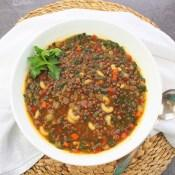 Spinach and Lentil Soup #SoupSwappers