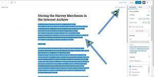Screen shot showing Gutenberg post editor
