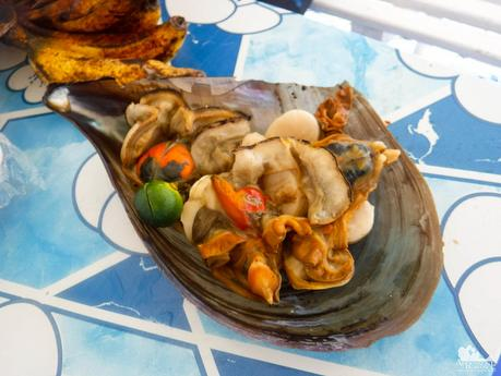 Steamed meat from Pen shells
