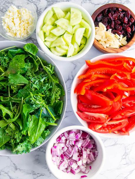 Healthy Greek Salad with Feta
