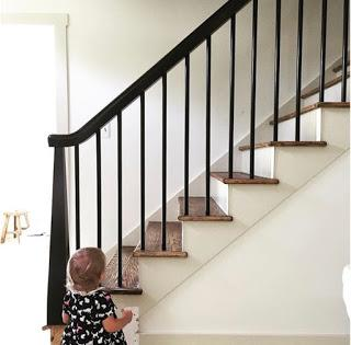 Modern Cottage staircase. How to.