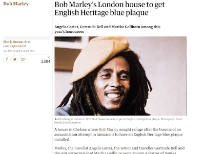 Blue Plaque For Bob Marley