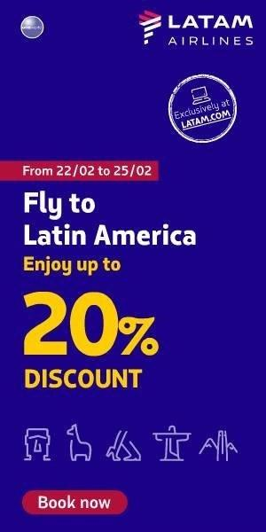 5. Take advantage of this travel offer -This February, LATAM Airlines is offering up to 20% discount on all flights between the UK and Latin America for customers that book online #Travel #Offers