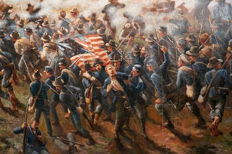Atlanta History Center - Painting Close Up of Solider Scene