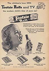 Image: The Children's Hour - Tootsie Rolls and TV - pure joy! Ad 1954, by The Jumping Frog