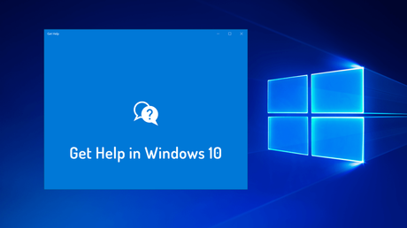 how to get help in windows 10- 2019
