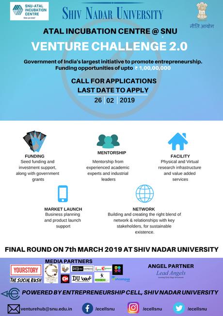 Venture Challenge – Shiv Nadar University – 2019