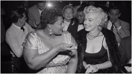 Ella Fitzgerald with Marylin Monroe