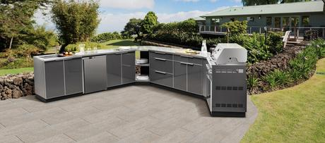 Outdoor Gray Kitchen Cabinets