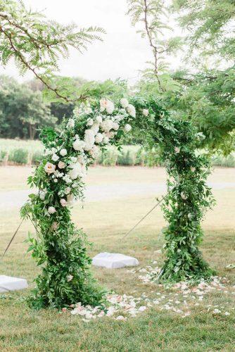 park wedding arch in park Gemini Photography