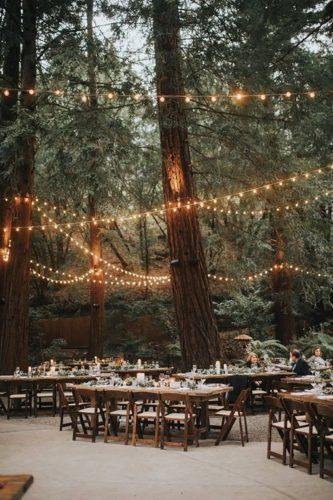 park wedding lamps in reception Essence Photography