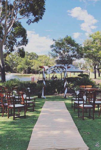 park wedding simple ceremony decor weddingsbykate