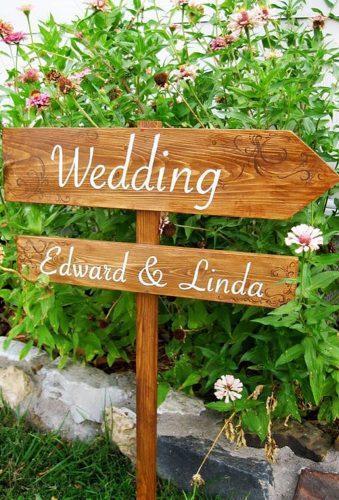park wedding reception sign SplendidEvents