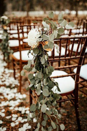 park wedding chair decor white flower 28 North Photography