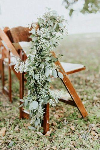 park wedding greenery chair decor Alexandra Wallace