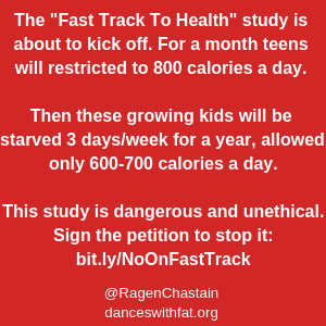 """Study Plans To Starve Kids """"For Their Health"""""""