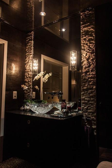 Bathroom Lighting Ideas Dark Cozy Bathroom Idea - Harptimes.com