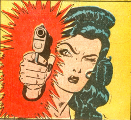 Miss Fury had cat claws, stiletto heels and a killer make-up compact.