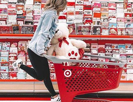 target-wedding registry girl at the store