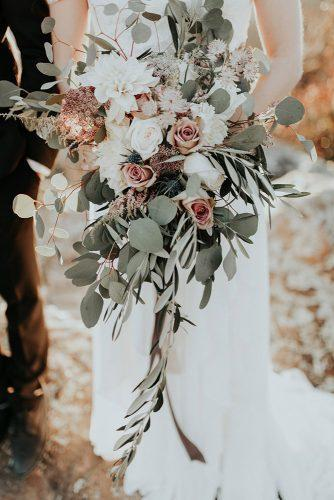 sage green wedding bouquet greenery and dusty pink roses and wildflowers andy roberts photography