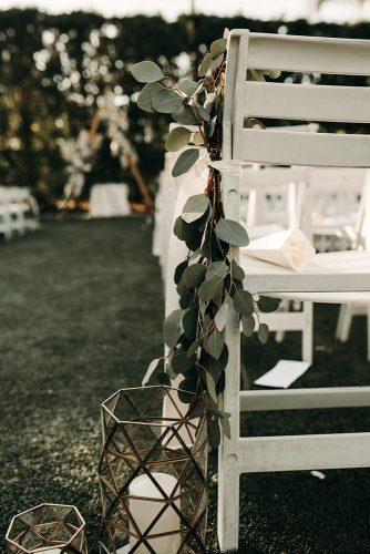 sage green wedding aisle with greenery and geometry terrarium with white candles ashtyn brooke photo
