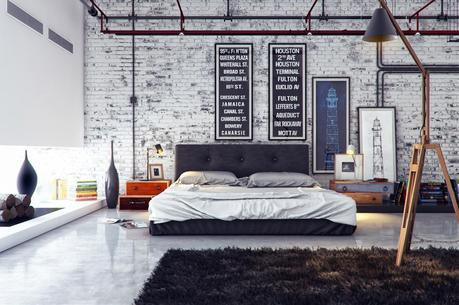 Industrial Mens Bedroom Ideas