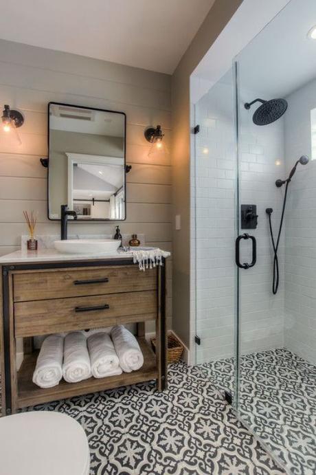 Guest Bathroom Ideas Bathroom with Wooden Vanity - Harptimes.com