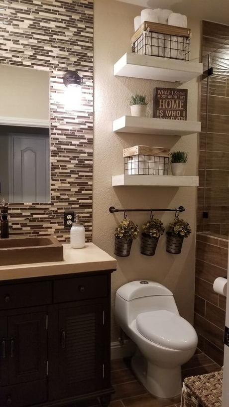 Guest Bathroom Ideas Bathroom Design with Patterned Wall Tile - Harptimes.com