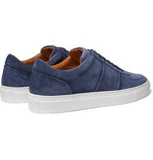 It's Easy Being Blue:   Mr P. Larry Suede Sneaker