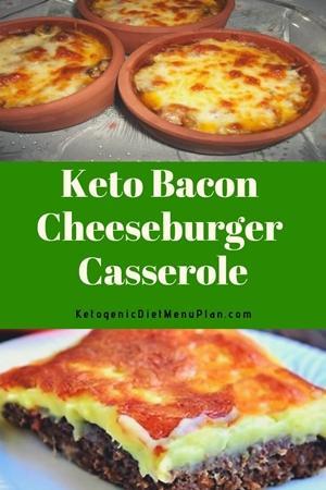 Keto Bacon Cheeseburger Casserole | Ketogenic Diet Recipes