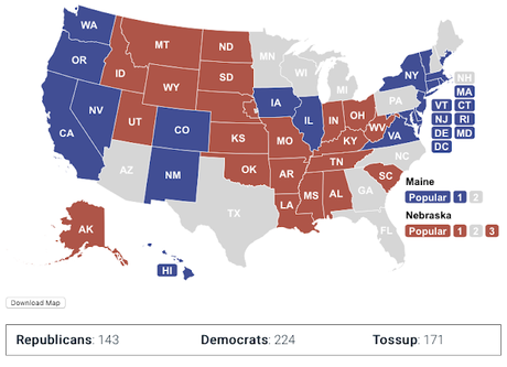 The Blue And Red States - And The Competitive States