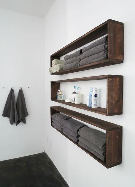 Bathroom Wall Decor Rectangular Box Shelves - Harptimes.com