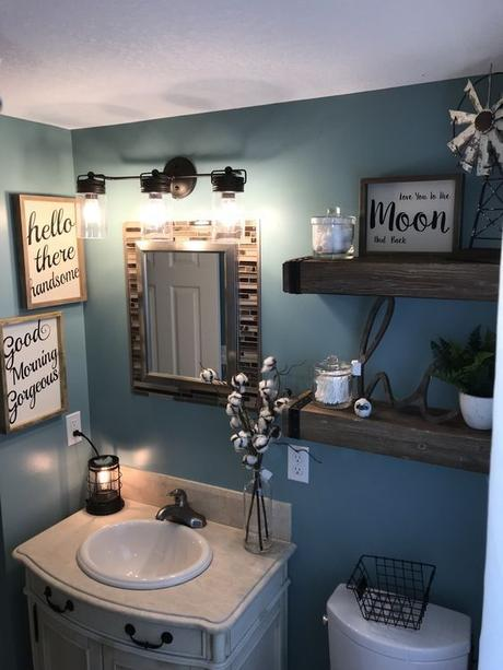 Bathroom Wall Decor Modern Farmhouse Decor - Harptimes.com