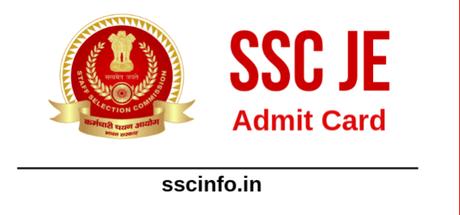 SSC JE Admit Card 2019