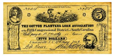 A Confederate treasury note from the Civil War Era shows how reliant the South's economy was on slave labor.