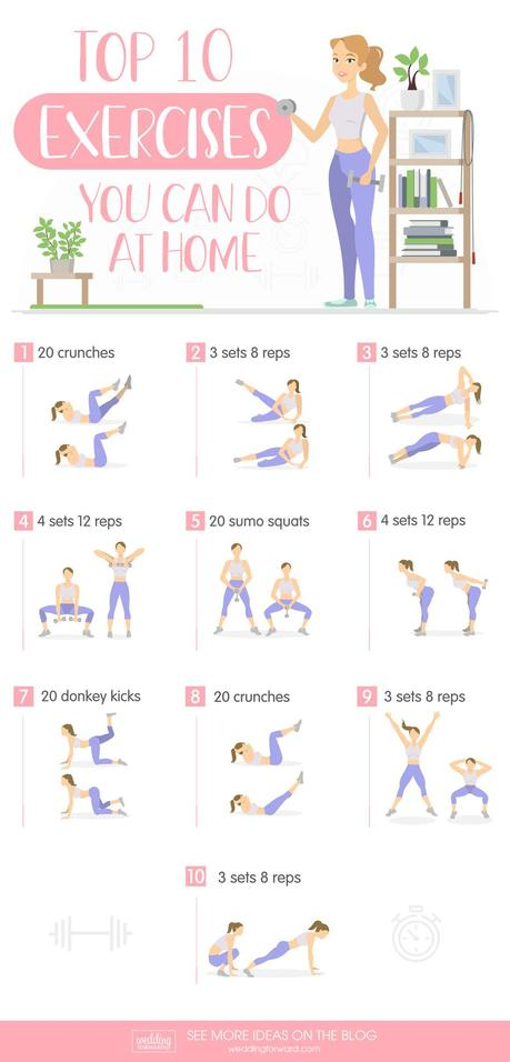 wedding weightloss top exercises to do at home wedding workout