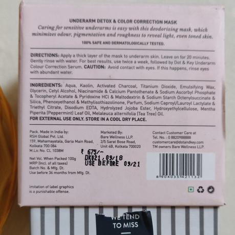 Dot & Key Underarm Detox & Color Correction Mask Review