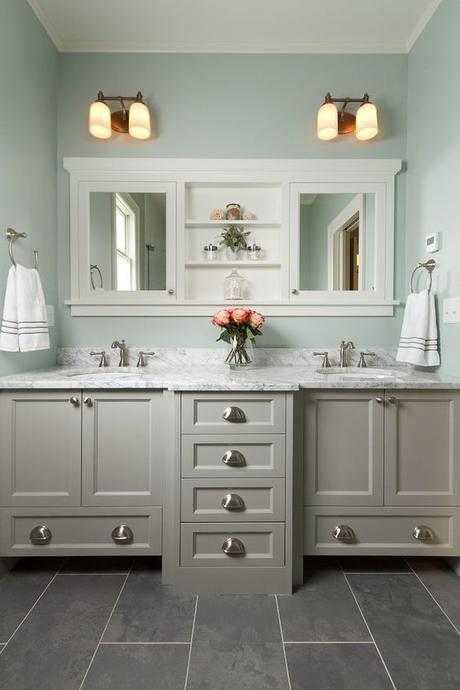 Bathroom Cabinet Ideas Gray Bathroom Cabinet with Mint Green Wall - Harptimes.com