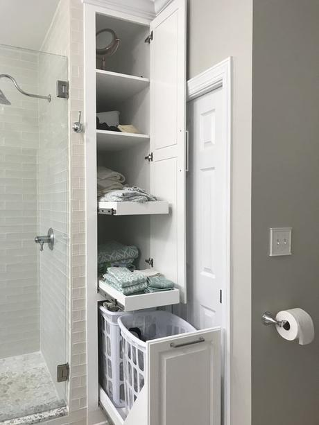 Bathroom Cabinet Ideas Tall Built-In Bathroom Cabinet For Linen - Harptimes.com