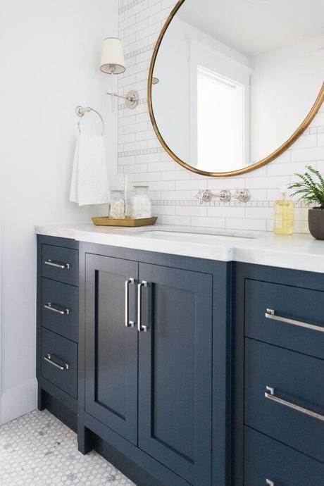 Bathroom Cabinet Ideas Navy Blue Bathroom Cabinet - Harptimes.com